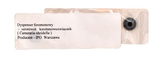 Dyspenser feromonowy – szrotówek kasztanowcowiaczek (Cameraria ohridella) – polski